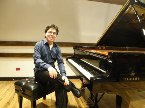 During the Liszt Cycle at the University of Costa Rica, August 2011.